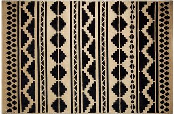 Kayoom Jute-Teppich Scandy 310 Schwarz /  Naturell
