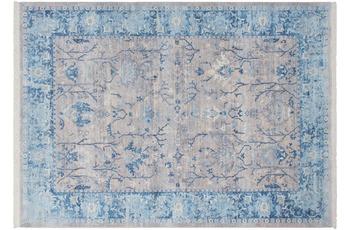 Kayoom Vintage-Teppich Shannan Silber /  Blau