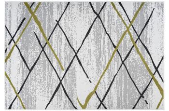 Kayoom Teppich Vancouver 110 Weiß /  Grau /  Khaki