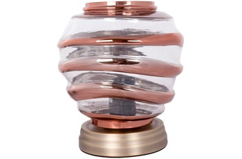 Kayoom Tischlampe Aladin III 720 Champagner /  Kupfer