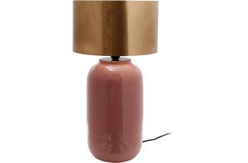 Kayoom Tischlampe Art Deco 725 Rosa /  Gold