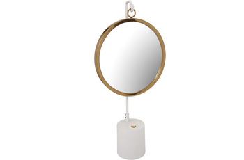 Kayoom Tischspiegel Eleganca 225 Weiß /  Gold