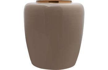 Kayoom Vase Art Deco 125 Taupe /  Gold
