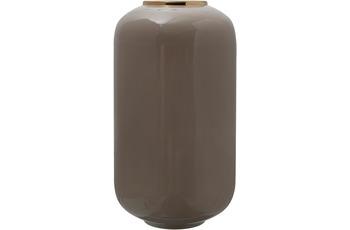 Kayoom Vase Art Deco 275 Taupe /  Gold