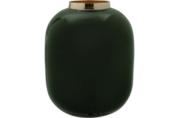 Kayoom Vase Art Deco 345 Dunkelgrün /  Gold