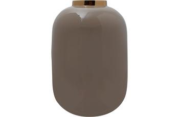 Kayoom Vase Art Deco 355 Taupe /  Gold