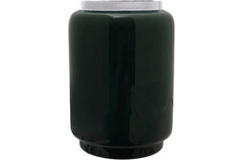 Kayoom Vase Art Deco 425 Dunkelgrün /  Silber