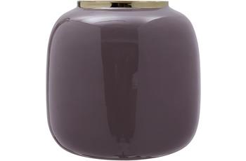 Kayoom Vase Art Deco 525 Dunkellila /  Gold