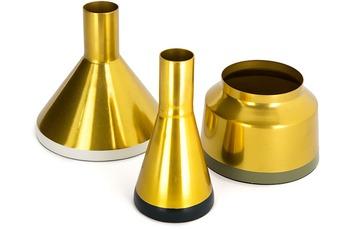 Kayoom Vasen 3er Set Culture 160 Gold /  Weiß /  Grün /  Grau