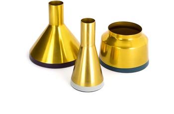 Kayoom Vasen 3er Set Culture 180 Gold /  Pflaume /  Hellgrau /  Petrol