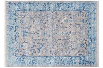 Kayoom Teppich Tibet - Shannan Silber /  Blau
