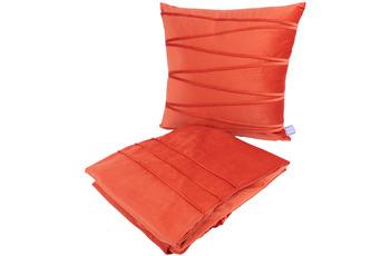 Kenda Sand Dekokissen & Decke Paulina 125 2er-Set Orange