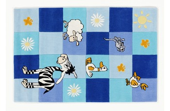 KiYou Kinderteppich blaue Kästchen BC4488-10