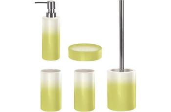Kleine Wolke Badaccessoires Set Phönix Alge (bestehend aus Seifenspender, Seifenschale, WC-Garnitur, 2x Zahnputzbecher)