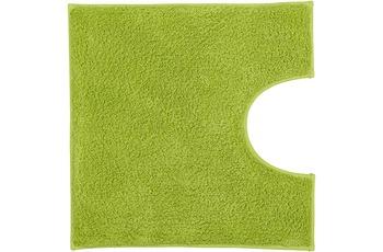 Kleine Wolke Badteppich Kansas Grün 50 cm x 50 cm WC-Vorleger mit Ausschnitt