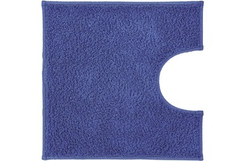 Kleine Wolke Badteppich Kansas Himmelblau 50 cm x 50 cm WC-Vorleger mit Ausschnitt