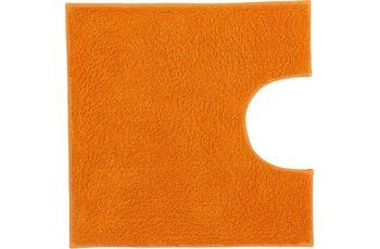 Kleine Wolke Badteppich Kansas Orange 50 cm x 50 cm WC-Vorleger mit Ausschnitt