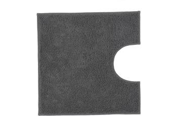 Kleine Wolke Badteppich Kansas Schiefer 50 cm x 50 cm WC-Vorleger mit Ausschnitt