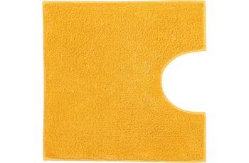 Kleine Wolke Badteppich Kansas Sunshine 50 cm x 50 cm WC-Vorleger mit Ausschnitt