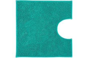Kleine Wolke Badteppich Kansas Türkis 50 cm x 50 cm WC-Vorleger mit Ausschnitt