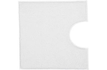 Kleine Wolke Badteppich Kansas Weiss 50 cm x 50 cm WC-Vorleger mit Ausschnitt