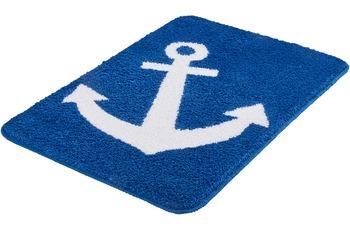 Kleine Wolke Badteppich Anchor Royalblau 55x 55 cm o.A.