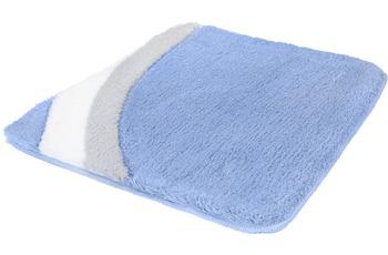 Kleine Wolke Badteppich Cadiz Azur 55 cm x 55 cm WC-Vorleger mit Ausschnitt