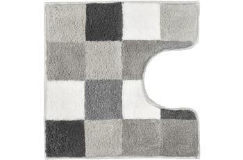 Kleine Wolke Badteppich Caro Flanell 55 cm x 55 cm WC-Vorleger mit Ausschnitt