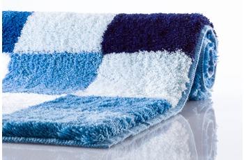 Kleine Wolke Badteppich Caro Royalblau 47 cm x 50 cm Deckelbezug