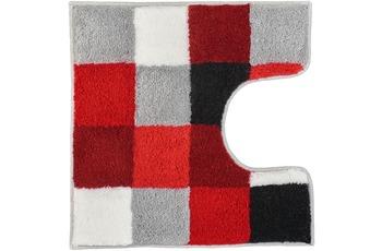 Kleine Wolke Badteppich Caro Rubin 55 cm x 55 cm WC-Vorleger mit Ausschnitt