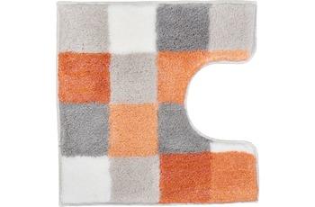 Kleine Wolke Badteppich Caro Salmon 55 cm x 55 cm WC-Vorleger mit Ausschnitt