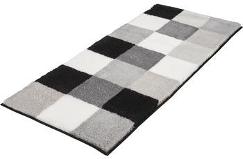 Kleine Wolke Badteppich Caro Schwarz 50 cm x 120 cm