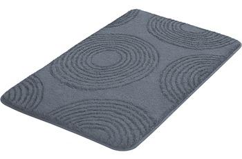 Kleine Wolke Badteppich Cosima Anthrazit 55 cm x 50 cm WC-Vorleger mit Ausschnitt
