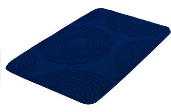 Kleine Wolke Badteppich Cosima Sor.-Azurblau 55 cm x 50 cm WC-Vorleger mit Ausschnitt