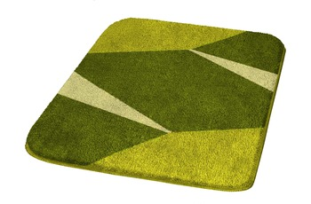 Kleine Wolke Badteppich Crystal Alge 55 cm x 55 cm WC-Vorleger mit Ausschnitt