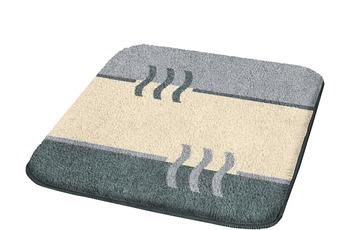 Kleine Wolke Badteppich, Fiesta, Platin 50 x 50 cm WC-Vorleger mit Ausschnitt