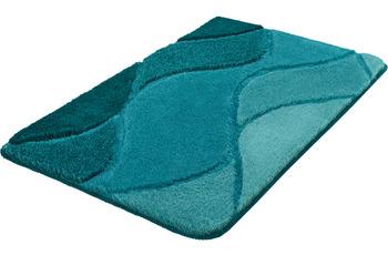Kleine Wolke Badteppich Fiona Petrol 55x 50 cm WC-Vorleger mit Ausschnitt