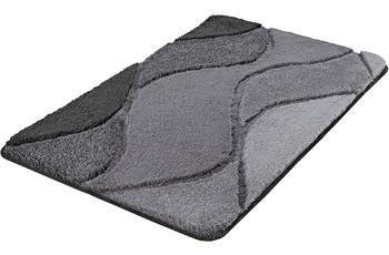 Kleine Wolke Badteppich Fiona Schiefer 55x 50 cm WC-Vorleger mit Ausschnitt