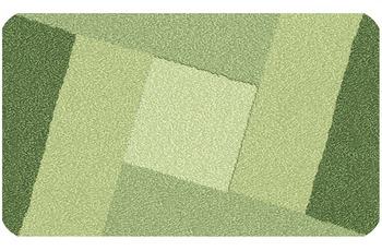 Kleine Wolke Badteppich Indiana Minze 55 cm x 55 cm WC-Vorleger mit Ausschnitt