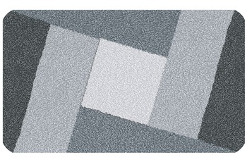 Kleine Wolke Badteppich Indiana Schiefer 55 cm x 55 cm WC-Vorleger mit Ausschnitt