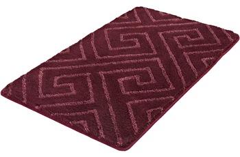 Kleine Wolke Badteppich Jenna Purple 55 cm x 50 cm WC-Vorleger mit Ausschnitt