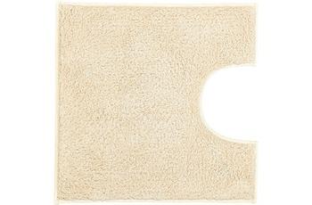 Kleine Wolke Badteppich Kansas Natur 50 cm x 50 cm WC-Vorleger mit Ausschnitt