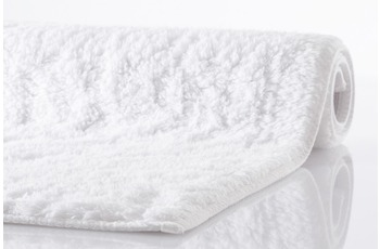Kleine Wolke , Badematte, Kansas, weiss, reine Baumwolle, rutschhemmender Rücken