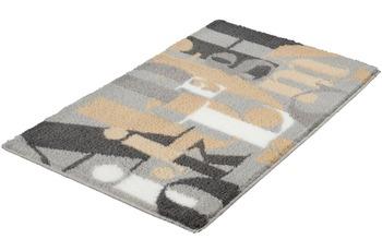 Kleine Wolke Badteppich Letter Nebel 60 cm x 90 cm