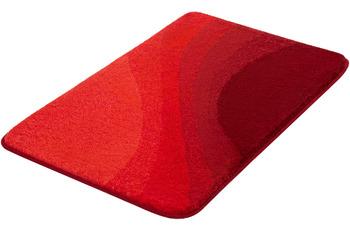 Kleine Wolke Badteppich Malin Granat 55x 50 cm WC-Vorleger mit Ausschnitt