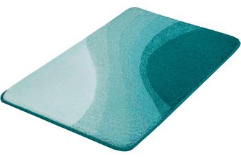 Kleine Wolke Badteppich Malin Türkis 55x 50 cm WC-Vorleger mit Ausschnitt