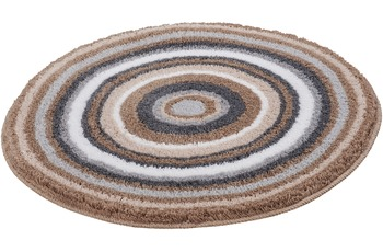 Kleine Wolke Badteppich MANDALA Taupe 60 cm rund