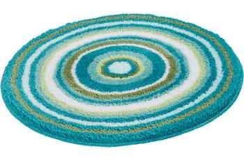 Kleine Wolke Badteppich MANDALA Türkis 60 cm rund