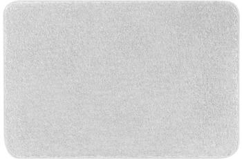 Kleine Wolke Badteppich Meadow Silbergrau 55x55 cm WC-Vorleger mit Ausschnitt