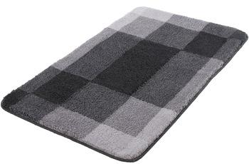 Kleine Wolke Badteppich Mix Schiefer 55 cm x 50 cm WC-Vorleger mit Ausschnitt